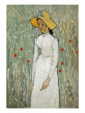 Girl in White Premium Giclee Print by Vincent van Gogh