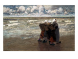 Return from Fishing Reproduction procédé giclée par Theodor Verstraete