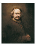 Self-Portrait at the Age of 63 Art by  Rembrandt van Rijn