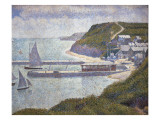 Harbour at Port-En-Bessin at High Tide Schilderij van Georges Seurat
