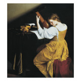 The Lute Player Posters af Orazio Gentileschi