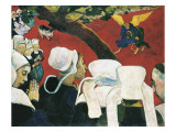 The Vision after the Sermon Premium Giclee Print by Paul Gauguin