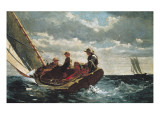 Breezing Up (A Fair Wind) Affischer av Winslow Homer
