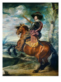 Equestrian Portrait of the Count-Duke of Olivares, Gaspar De Guzmán Y Pimentel Giclee Print by Diego Velázquez