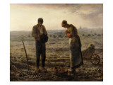 The Angelus (L'Angélus) Reproduction procédé giclée par Jean-François Millet