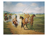 Horse Throwing Giclee Print by Ernesto Icaza