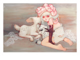 Pink Birthday Cake Giclee Print by Camilla D&#39;Errico