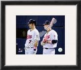 Joe Mauer & Justin Morneau Framed Photographic Print