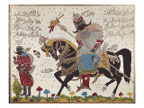 Antarah Ibn-Shaddad Al Absi on Horseback Giclee Print by Antarah ibn Shaddad