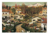 Landscape with Figures Giclee Print by Ramon Pichot