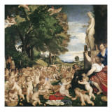 Garden of Loves, or Worship of Venus Kunst af Titian (Tiziano Vecelli)