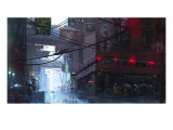 Japan Rain Giclee Print by Stephane Belin