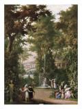 Scenes in a Garden Affiches par Giovanni Battista Colombo