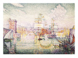 Entrance to the Port of Marseille Póster por Paul Signac