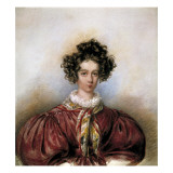 Portrait of George Sand Print by Candide Blaize