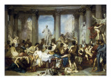 The Romans of the Decadence Premium Giclee Print by Thomas Couture