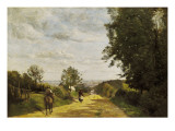 The Road to Sevres Giclee Print by Jean-Baptiste-Camille Corot