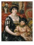 Madame Josse Bernheim-Jeune and Her Son Henry Reproduction procédé giclée par Pierre-Auguste Renoir
