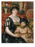 Madame Josse Bernheim-Jeune and Her Son Henry Prints by Pierre-Auguste Renoir