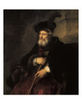 Portrait of an Old Man Print by  Rembrandt van Rijn