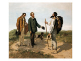 "The Meetingor ""Bonjour Monsieur Courbet"" Prints by Gustave Courbet"