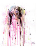 Monkey 8 Giclee Print by Lora Zombie
