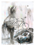Rain Lady Giclee Print by Lora Zombie