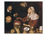 Old Woman Cooking Eggs Giclee Print by Diego Vel&#225;zquez