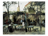 "Terrace of the Café ""La Guinguuette"" Reproduction procédé giclée par Vincent van Gogh"