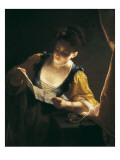 Young Woman Reading a Letter (Jeune Fille Lisant Une Lettre) Giclee Print by Jean Raoux
