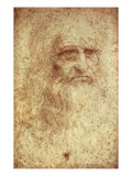 Self-Portrait Print by  Leonardo da Vinci