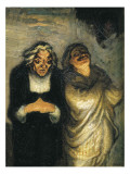 Scene Out of Comedy Od Molière Prints by Honore Daumier