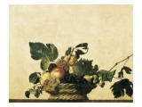 Basket with Fruit Art by  Caravaggio