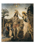 The Baptism of Christ Gicle-tryk af Andrea del Verrocchio