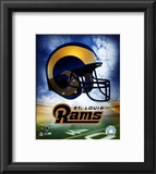 St. Louis Rams Helmet Logo Framed Photographic Print