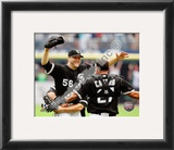 Mark Buehrle '09 Perfect Game celebration w/ Castro Framed Photographic Print