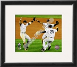 Derek Jeter, Mark Teixeira, and Alex Rodriguez Game Six of the 2009 ALCS Framed Photographic Print