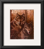 Wolves Pair Print by T. C. Chiu