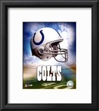 Indianapolis Colts Helmet Logo Framed Photographic Print