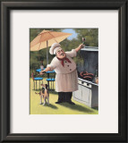 Barbecue Chef, Dog Prints by T. C. Chiu