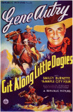 Git Along, Little Dogies Masterprint