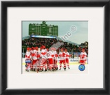 The Detroit Red Wings Celebrate Winning the 2008-09 NHL Winter Classic Framed Photographic Print