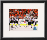 Patrick Kane, Patrick Sharp, & Nick Boynton 2010 Stanley Cup Framed Photographic Print