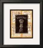 Grooming Shaving Print by Charlene Audrey