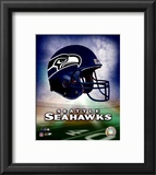 Seattle Seahawks Helmet Logo Framed Photographic Print