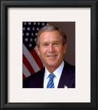 U.S. President George W. Bush Framed Photographic Print