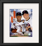 Jose Reyes and Dave Wright Framed Photographic Print