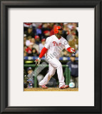 Ryan Howard Game 3 of the 2008 MLB World Series Framed Photographic Print
