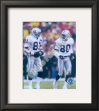 Tim Brown & Jerry Rice Framed Photographic Print