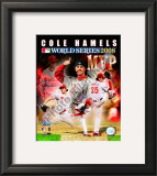 Cole Hamels 2008 World Series MVP Framed Photographic Print